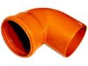 Колено канал. наруж. PVC-U 110/90 гр.