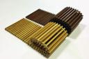 Решетка SGW - деревянная (дуб), поперечная (рулонная) c высотой профиля 24 мм (под заказ)
