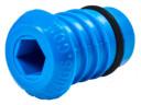 Заглушка для м/пластиковой трубы 20 синяя