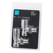 Комплект кранов для полотенцесушителя угловой, хром