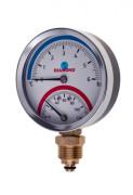Термоманометр радиальный 0-120°С 0-6 бар Диамонд