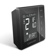 Термостат беспроводной с цифр.индикацией 4 в 1, с питанием от батареек, черный SALUS